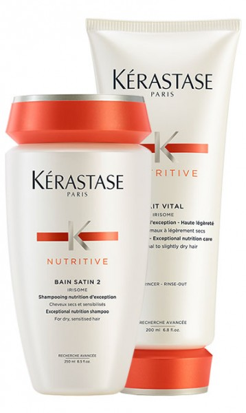 Kerastase Nutritive Set Bain Satin 2 & Lait Vital, (250 ml + 200 ml)