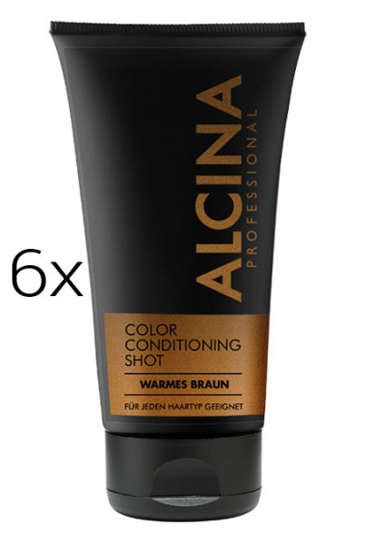 Alcina Color Conditioning Shot Warmes Braun, 6 x 150 ml