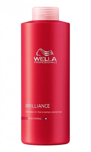 Wella Care Brilliance Shampoo für feines Haar, 1000 ml