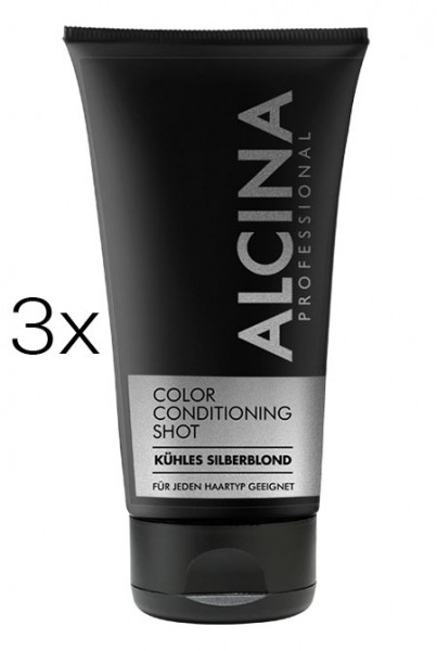Alcina Color Conditioning Shot Silber, 3 x 150 ml