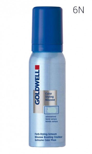 Goldwell Styling Mousse 6-N Dunkelblond, 75 ml