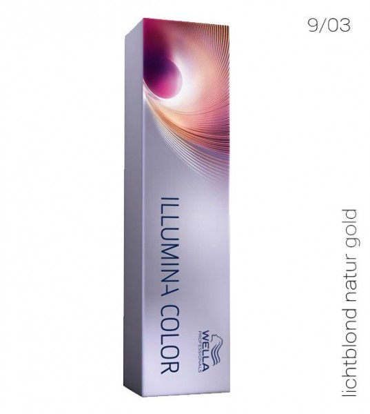 Wella Illumina Color 9/03 lichtblond natur gold