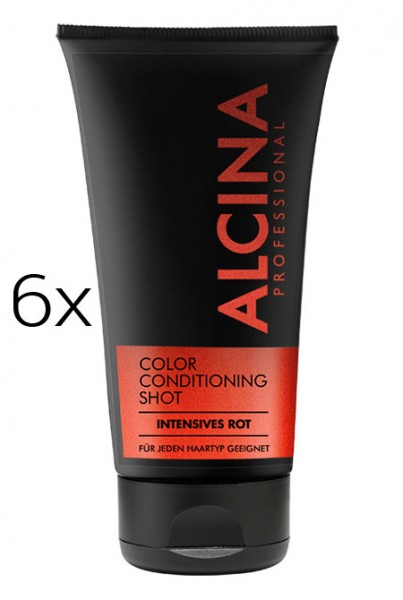 Alcina Color Conditioning Shot Rot, 6 x 150 ml