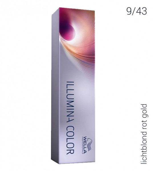 Wella Illumina Color 9/43 lichtblond rot gold