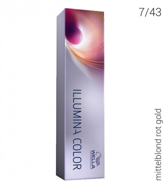 Wella Illumina Color 7/43 mittelblond rot gold