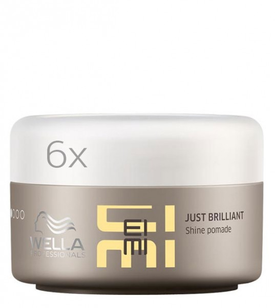 Wella EIMI Just Brilliant Pomade, 6 x 75 ml