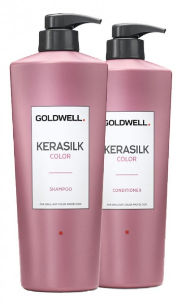 Goldwell Kerasilk Color Shampoo und Conditioner, je 1000 ml