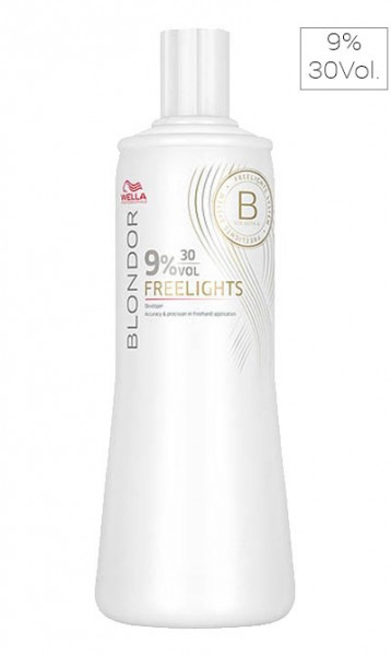 Wella Blondor Freelights Oxidationsmittel 9% 30Vol, 1000 ml
