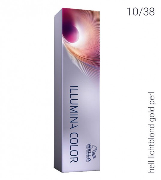 Wella Illumina Color 10/38 hell-lichtblond gold-perl